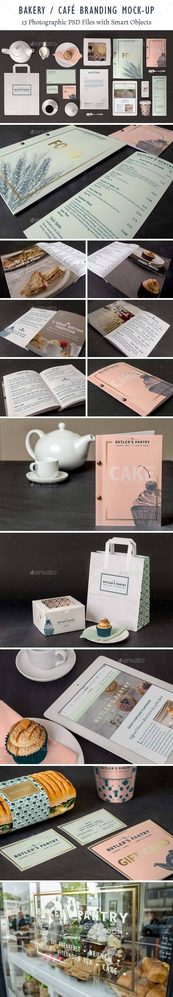 Bakery Cafe Branding Mockup - Product Mock-Ups Graphics