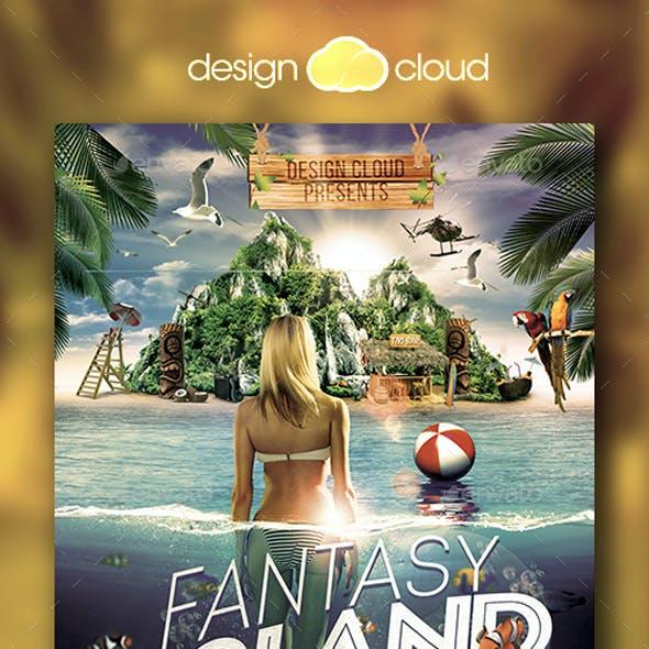 Fantasy Island Flyer Template