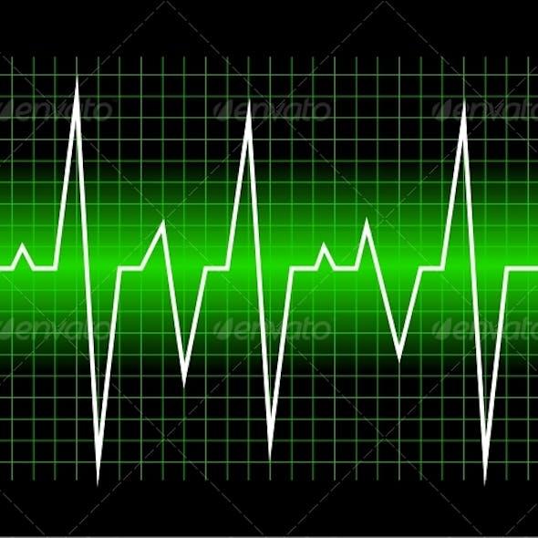 Graphic of digital sound wave.