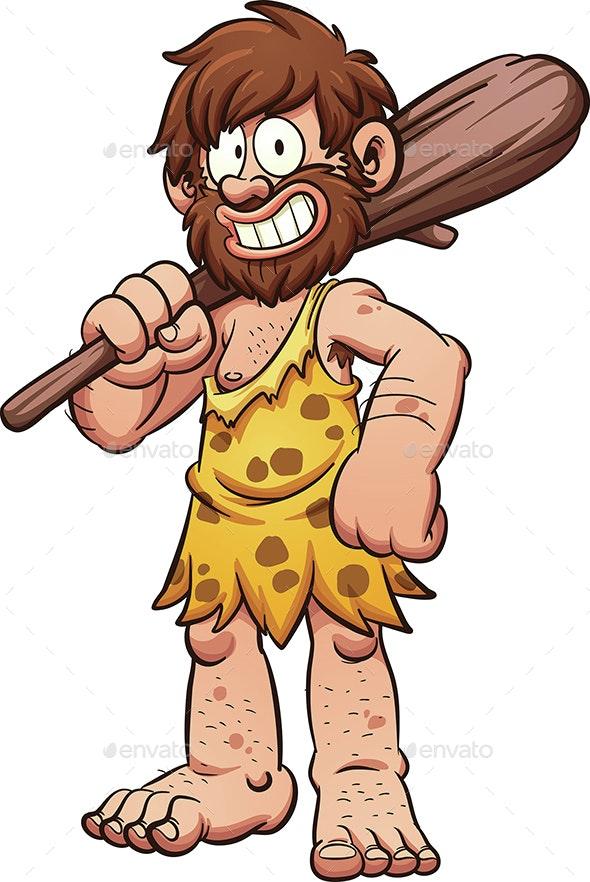 Cartoon Caveman - People Characters