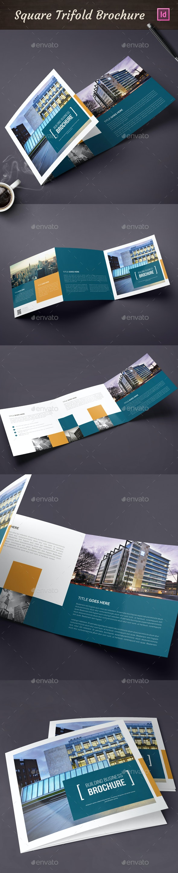 Square Trifold Brochure 02 - Corporate Brochures