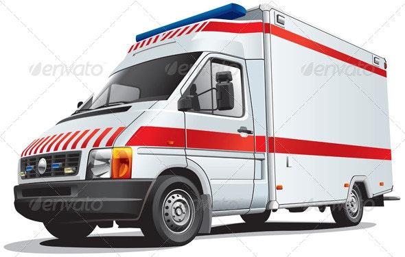 Ambulance Car - Objects Vectors