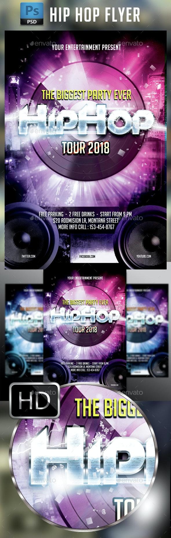 Hip Hop Flyer Template #3 - Events Flyers