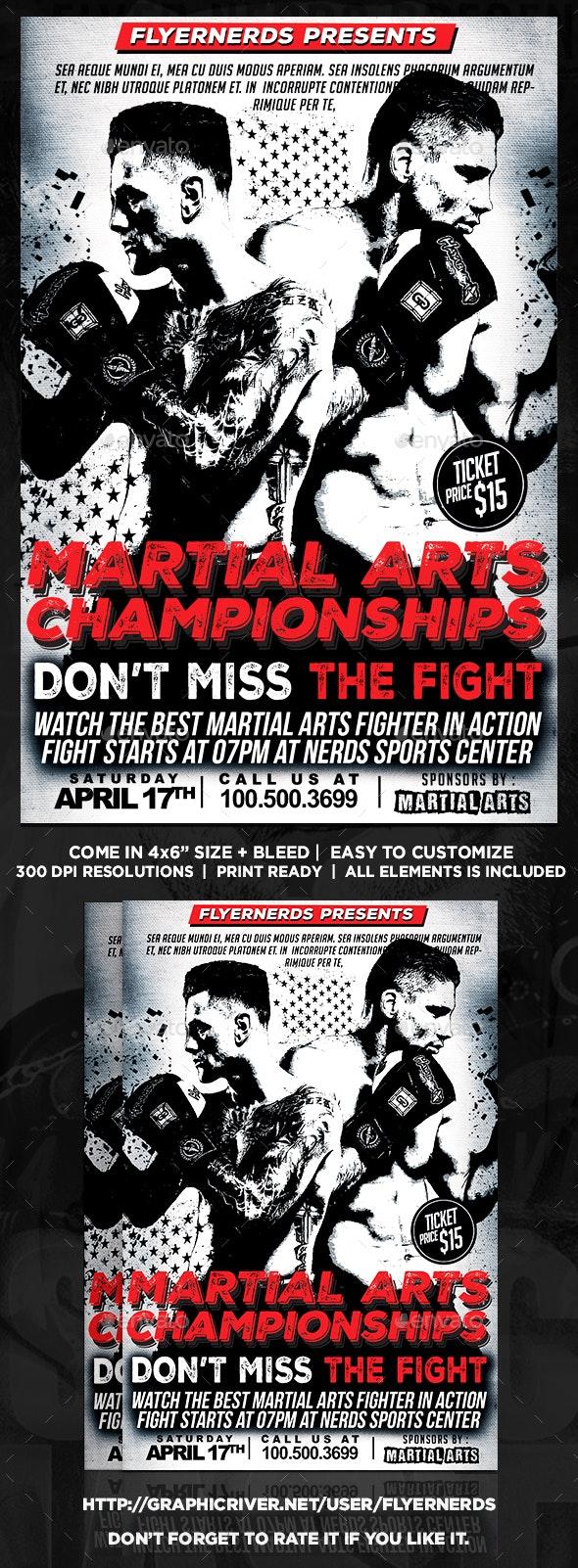 Martial Arts Championship Sports Flyer - Sports Events