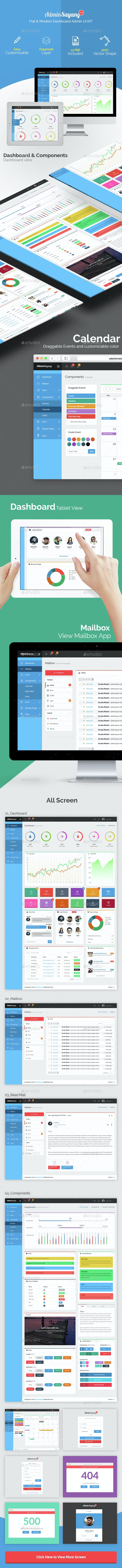 Sayang - Admin Dashboard UI KIT UI v1.0 - User Interfaces Web Elements