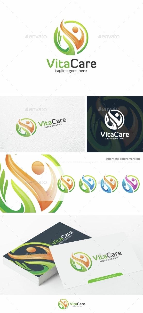 VitaCare - Logo Template - Humans Logo Templates