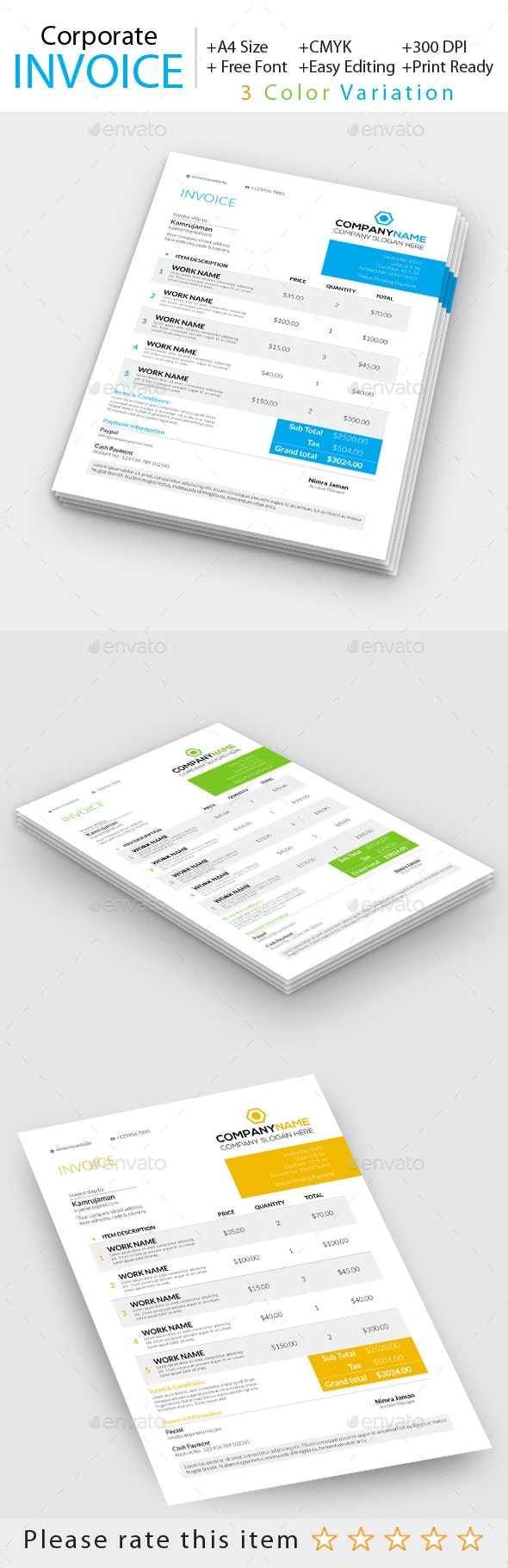 Corporate Invoice - Proposals & Invoices Stationery