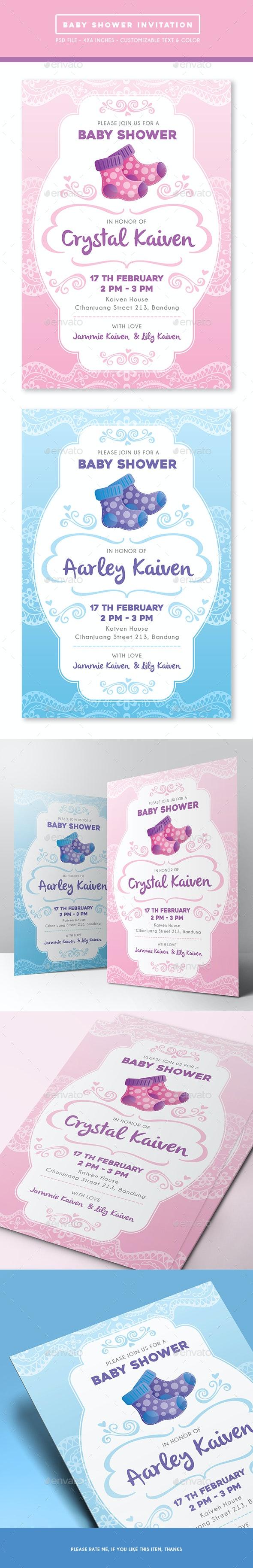 Baby Shower Invitation - Invitations Cards & Invites