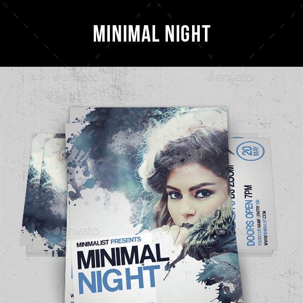 Minimal Night - Flyer