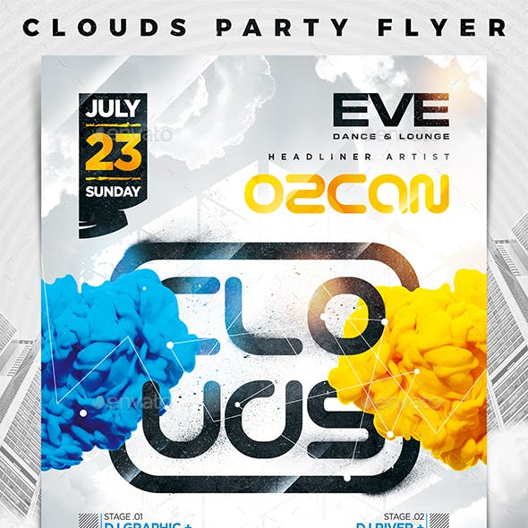 Clouds Party Flyer