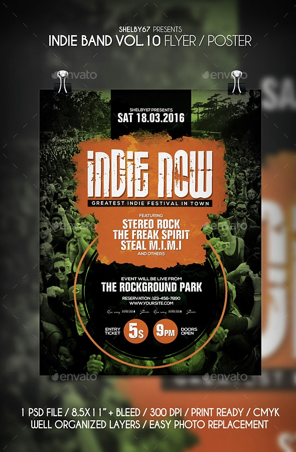 Indie Band Flyer / Poster Vol 10 - Events Flyers