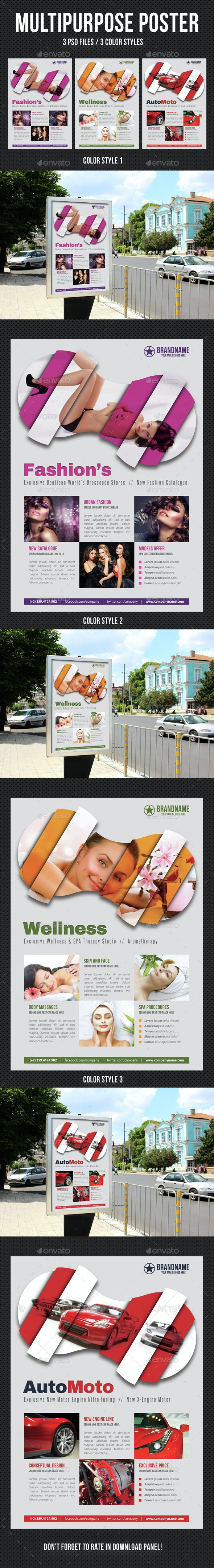 Multipurpose Flexible Poster 04 - Signage Print Templates