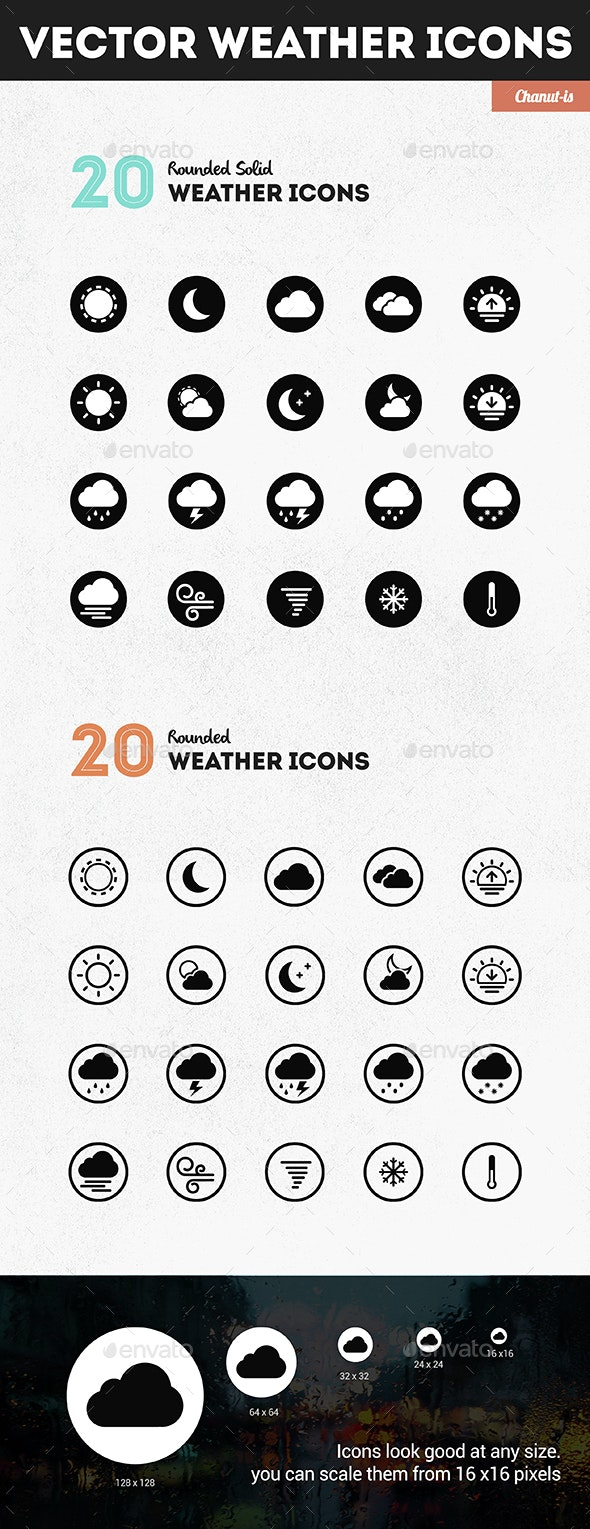 20 Weather icons pack  - Icons