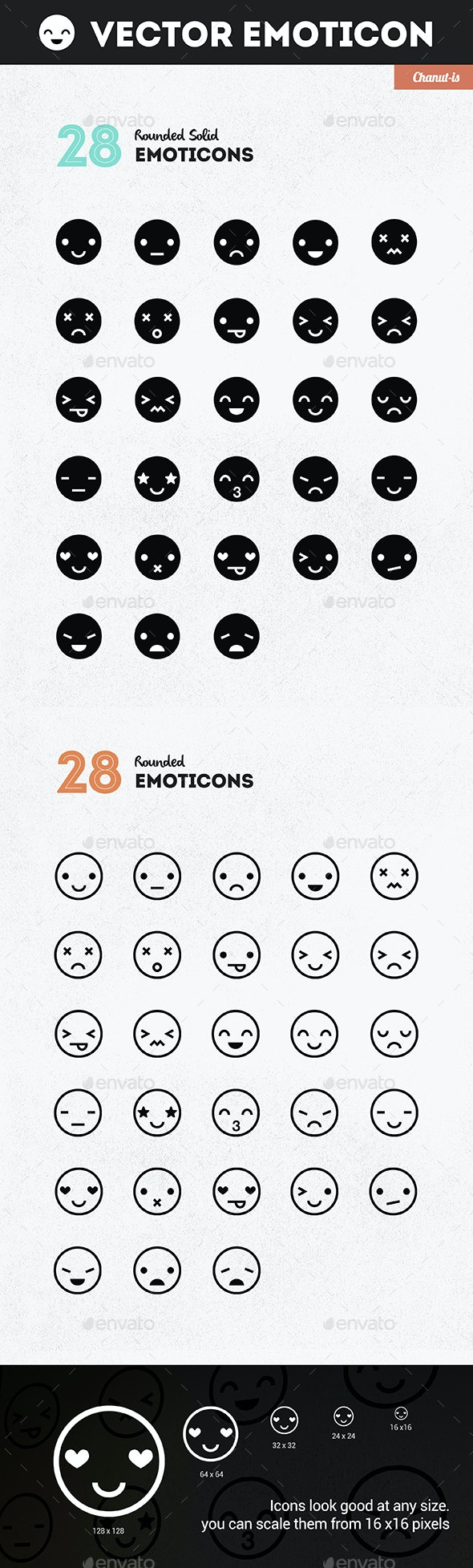 28 Emoticons pack  - People Characters