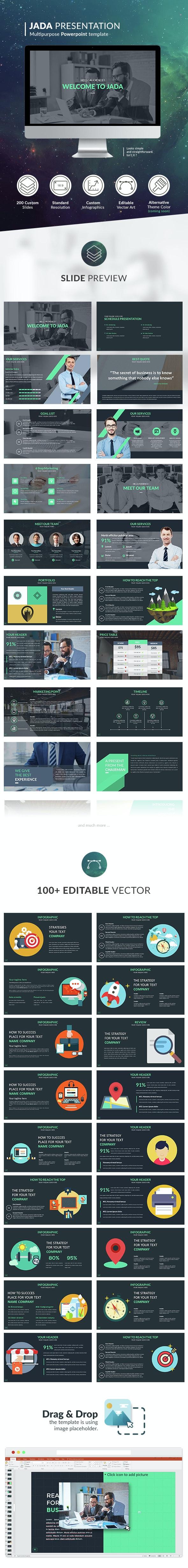 Jada - Multipurpose Presentation Template - Business PowerPoint Templates