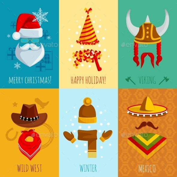 Hats And Accessories Mini Posters - Seasons/Holidays Conceptual
