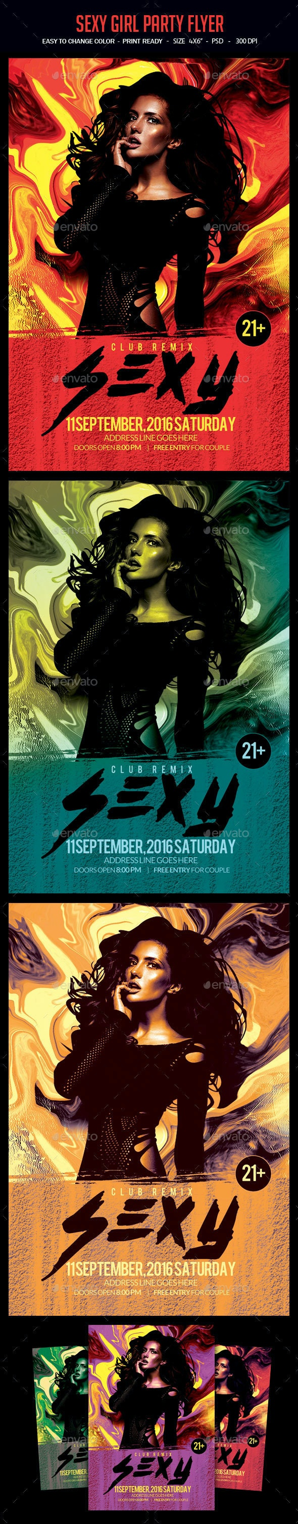 Sexy Girls Flyer - Clubs & Parties Events