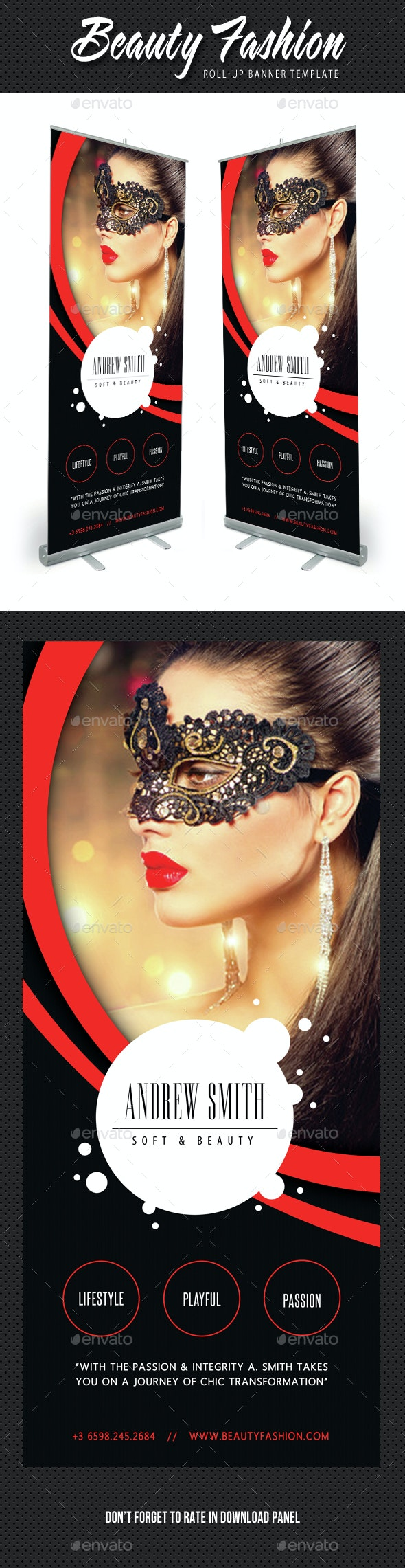 Beauty Fashion Banner Template V04 - Signage Print Templates