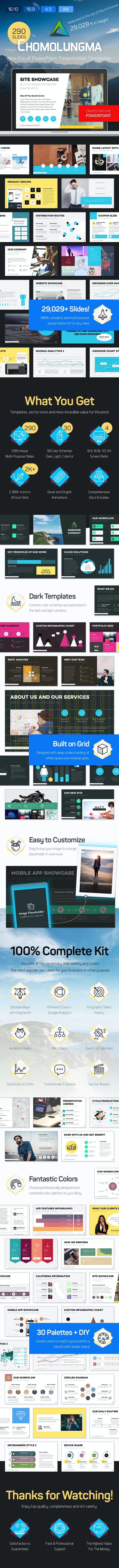 Chomolungma — PowerPoint Presentation Template Kit - Business PowerPoint Templates