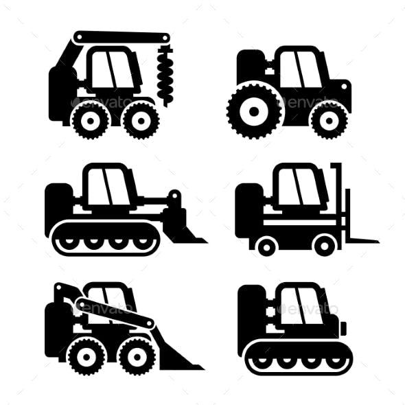 Bobcat Machine Icons Set