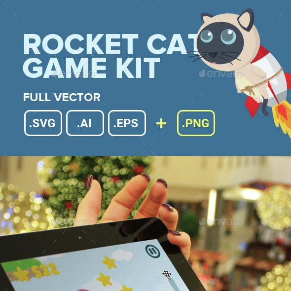 Four Rocket Cats Game Kit Assets