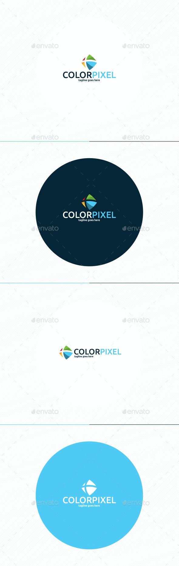 Color Pixel Logo - Vector Abstract