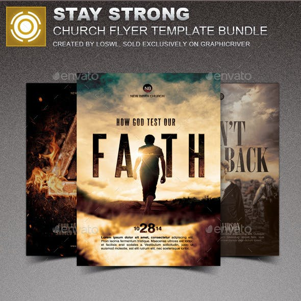 Stay Strong Church Marketing Flyer Bundle
