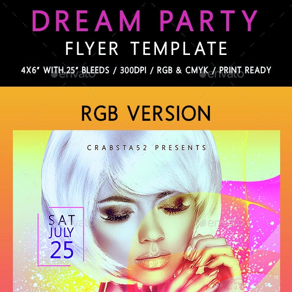 Dream Party Flyer Template