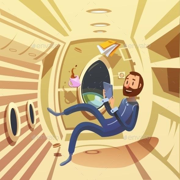 Spaceship Interior Illustration  - Travel Conceptual