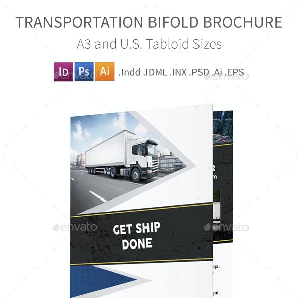 Transportation Company Bifold / Halffold Brochure