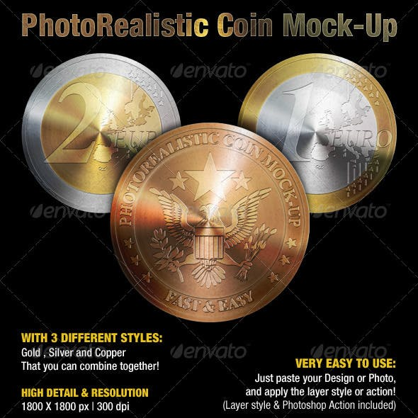 Photorealistic Coin Mock-Up