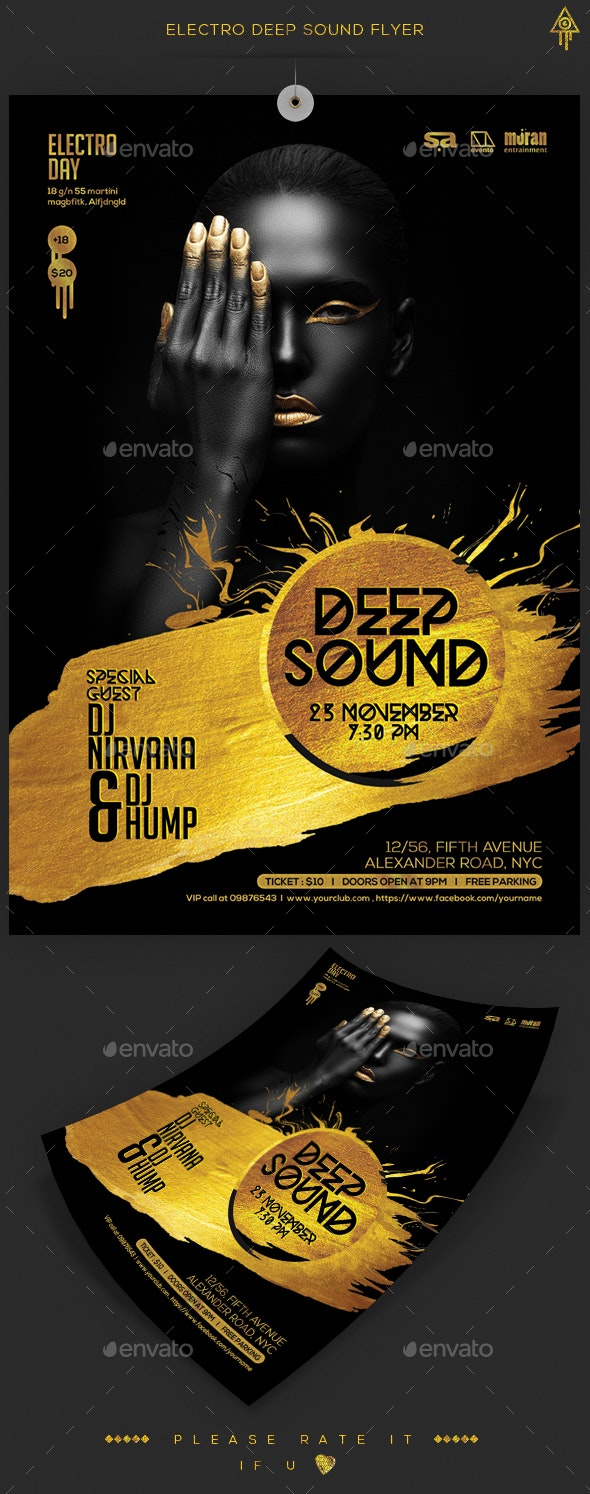 Electro Deep Sound Flyer - Clubs & Parties Events