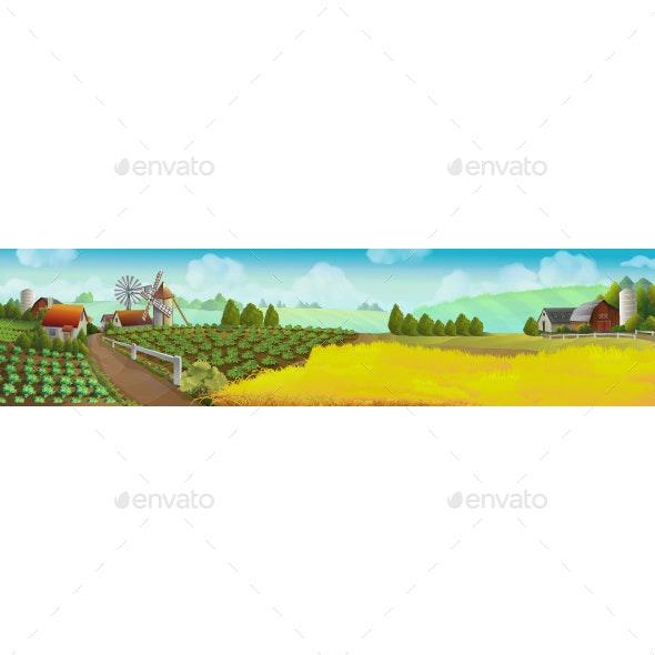 Farm Panorama Landscape - Landscapes Nature