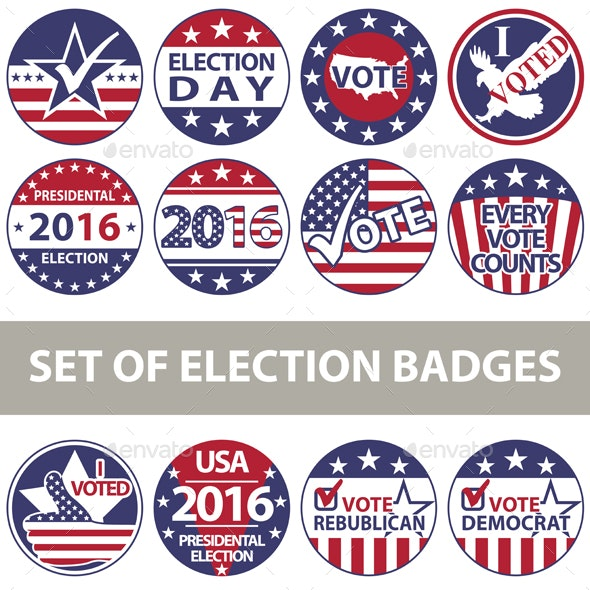Voting Badges - Miscellaneous Seasons/Holidays