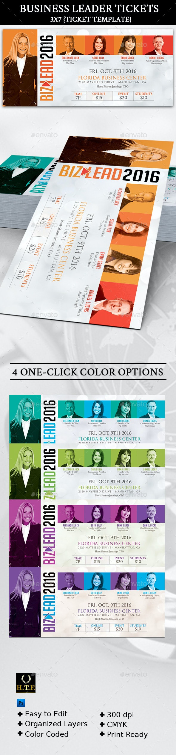 Business Leader Ticket - Corporate Business Cards
