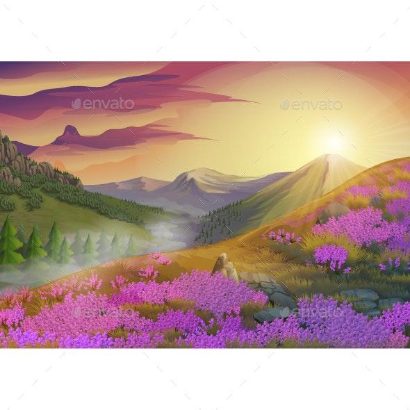 Summer Evening Landscape - Landscapes Nature