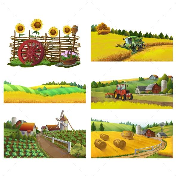 Farm Rural Landscape - Landscapes Nature