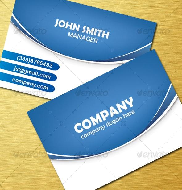 Modern Blue Vector Card - Creative Business Cards