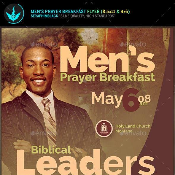 Men's Prayer Breakfast Church Flyer Template