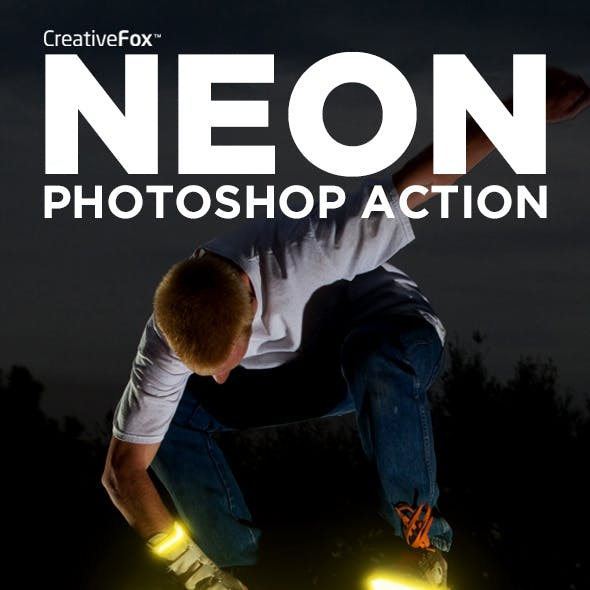 Neon Photoshop Action - Neon Creator Action