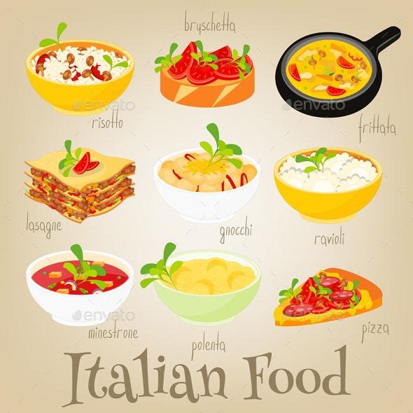 Italian Food Set - Food Objects