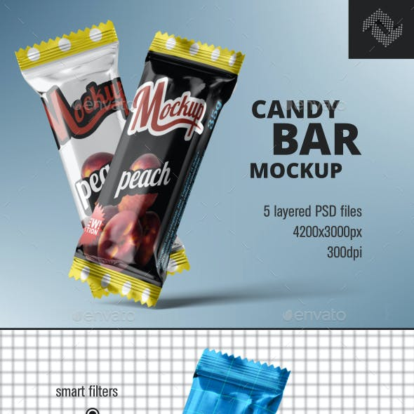 Candy Chocolate Bar Mockup