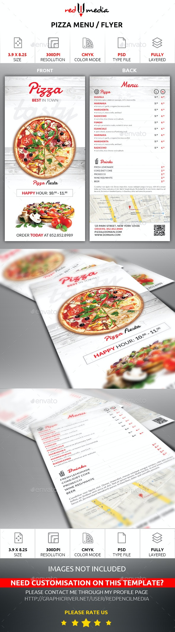 Pizza Menu / Flyer - Restaurant Flyers