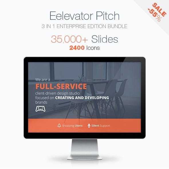 Elevator Pitch Keynote Presentation Bundle