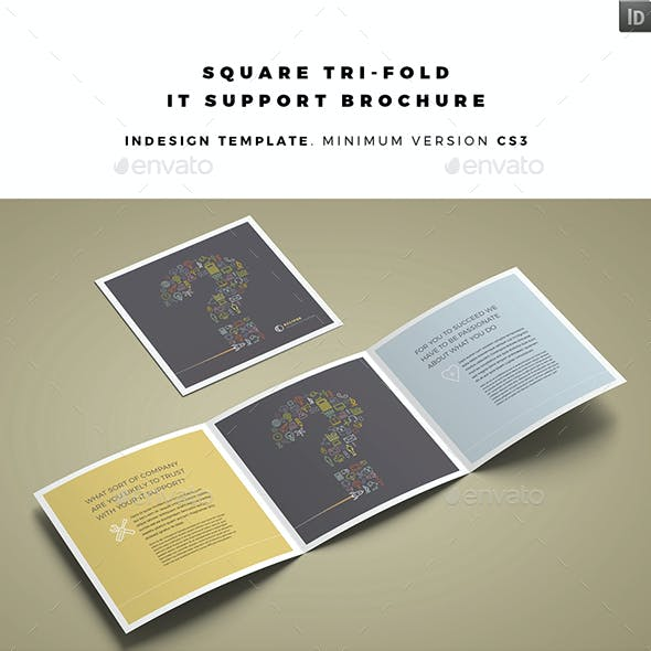 Square Tri-fold IT Support Brochure