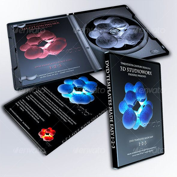 3D DVD TEMPLATE in 1-2-3