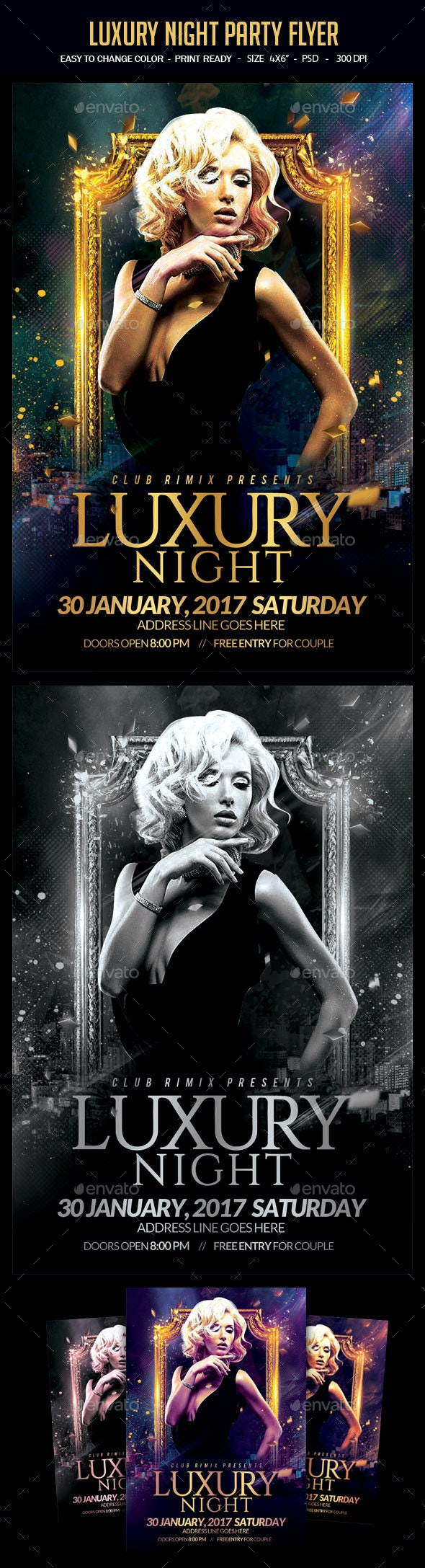 Luxury Night Party Flyer - Clubs & Parties Events