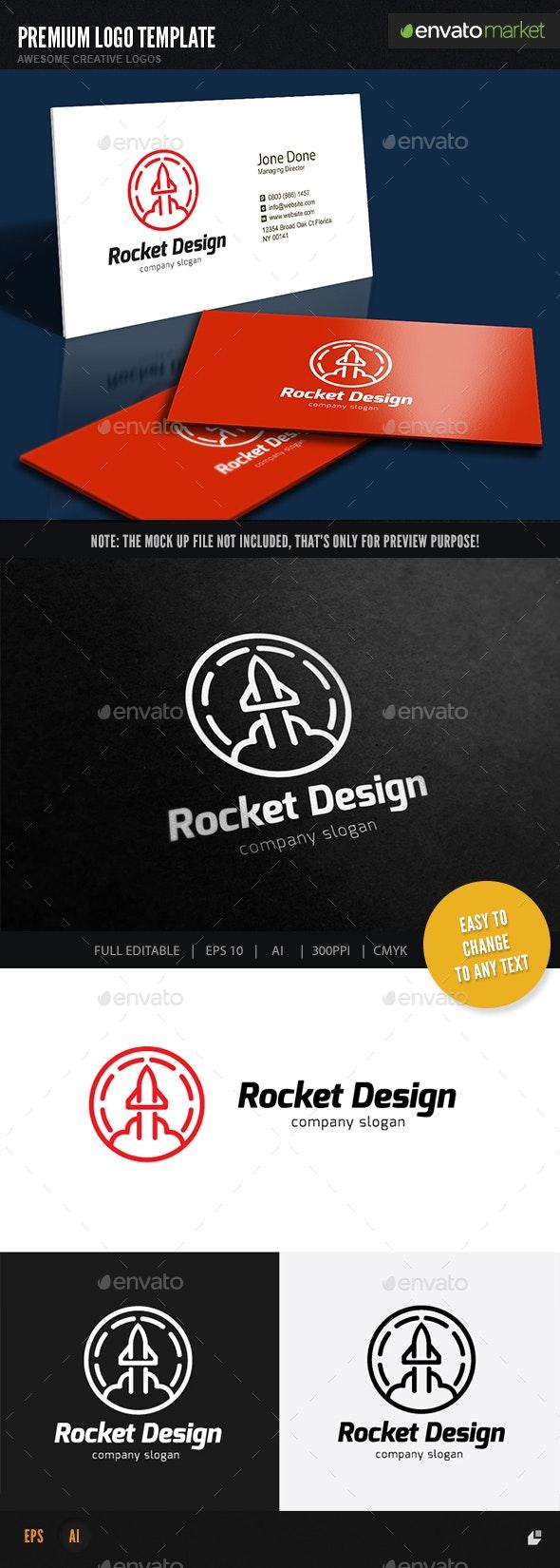 Rocket Design - Objects Logo Templates