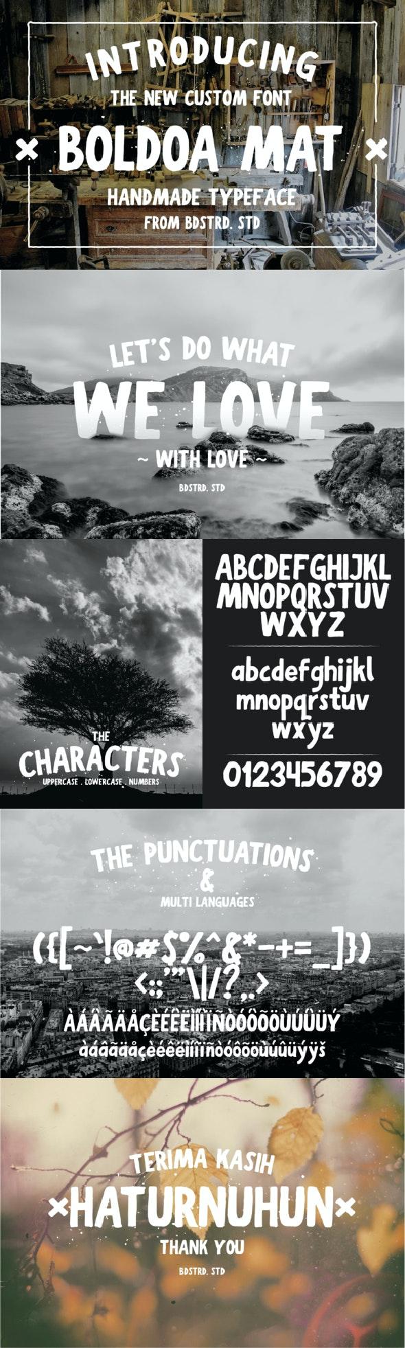 Boldoa Mat Handmade Typeface - Sans-Serif Fonts