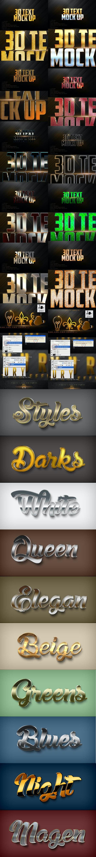 Bundle Marvelous Text Styles V10.12 - Text Effects Styles